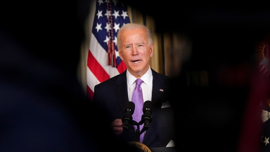 President Joe Biden speaks about his racial equity agenda at the White House, Jan. 26, 2021. (Reuters)