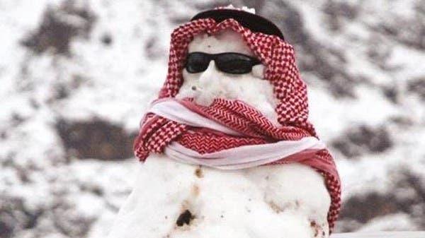 صور طريفة.. هكذا احتفى السعوديون بالثلوج!