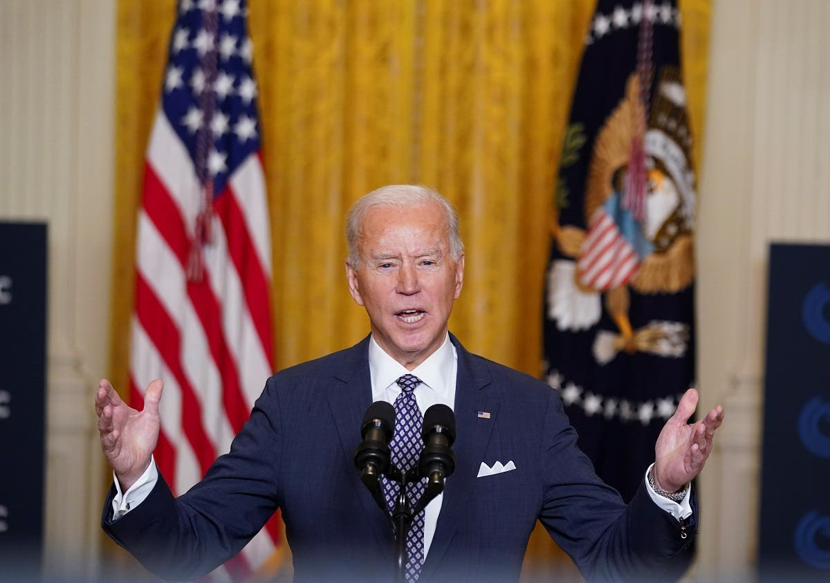 President Joe Biden delivers remarks during a Munich Security Conference virtual event, Feb. 19, 2021. (Reuters)
