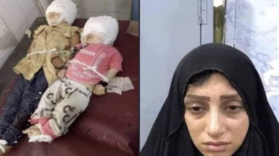 الأم القاتلة وطفليها الضحيتين