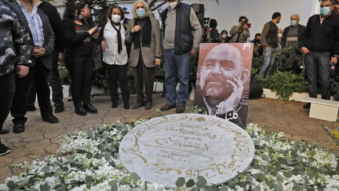 A memorial ceremony for slain prominent Lebanese activist Lokman Slim (image), in the capital Beirut's southern suburbs, on February 11, 2021.  (AFP)
