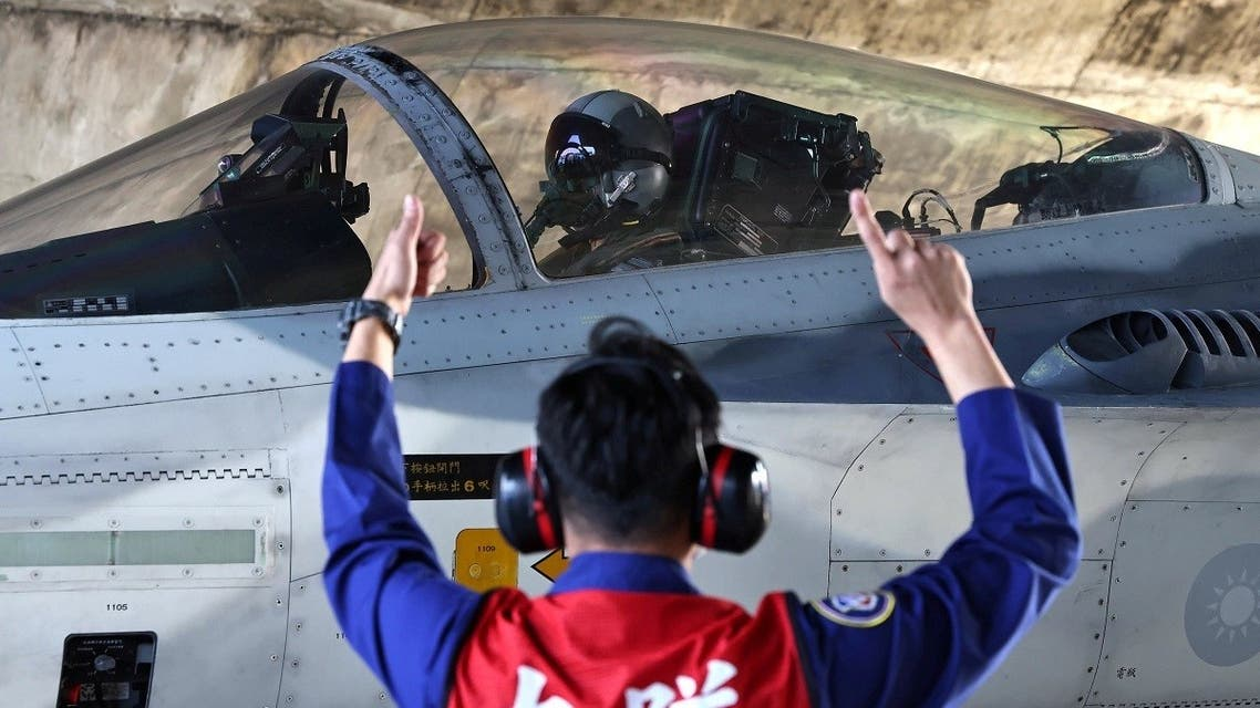 A file photo shows a pilot prepares to take off on a F-CK-1 Ching-kuo Indigenous Defense Fighter (IDF) at an Air Force base in Tainan, Taiwan, January 26, 2021. (Reuters/Ann Wang)