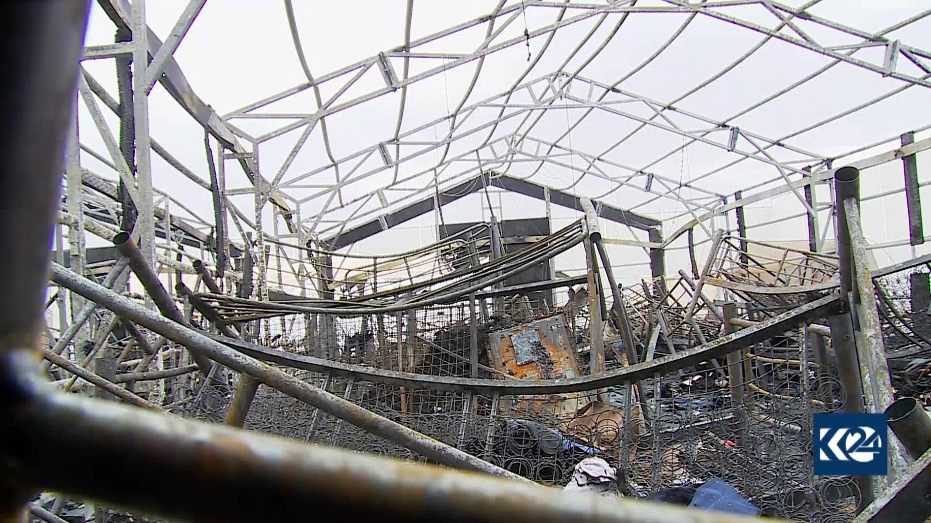أضرار إثر هجوم أربيل (فرانس برس)