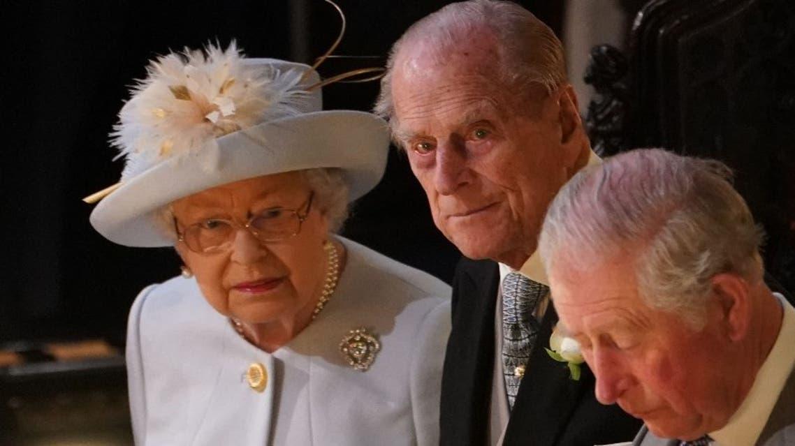 Britain's Queen Elizabeth II (L), Britain's Prince Philip, Duke of Edinburgh (C) and Britain's Prince Charles, Prince of Wales. (File photo: AFP)