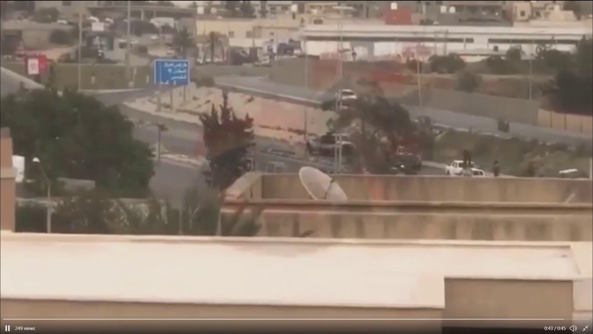 صور لمحاولة اغتيال وزير داخلية حكومة الوفاق الليبية فتحي باشاغا
