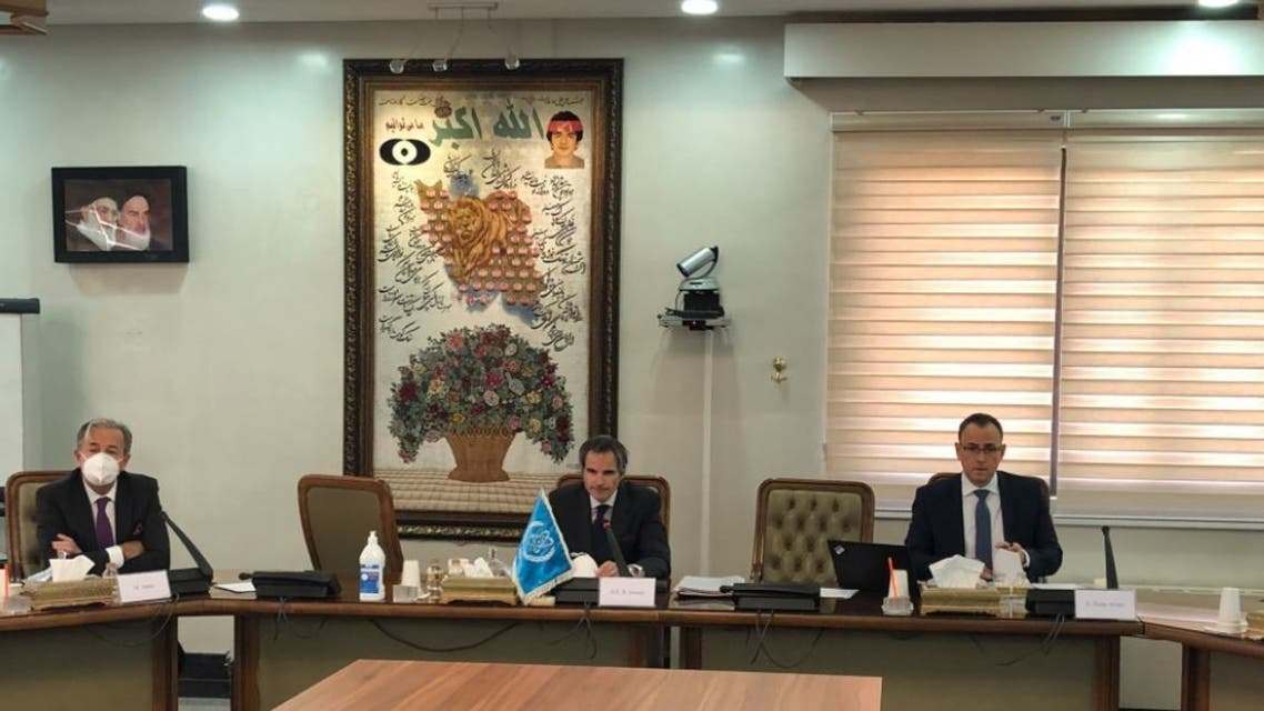 International Atomic Energy Agency chief Rafael Grossi during his visit to Iran. (Twitter)