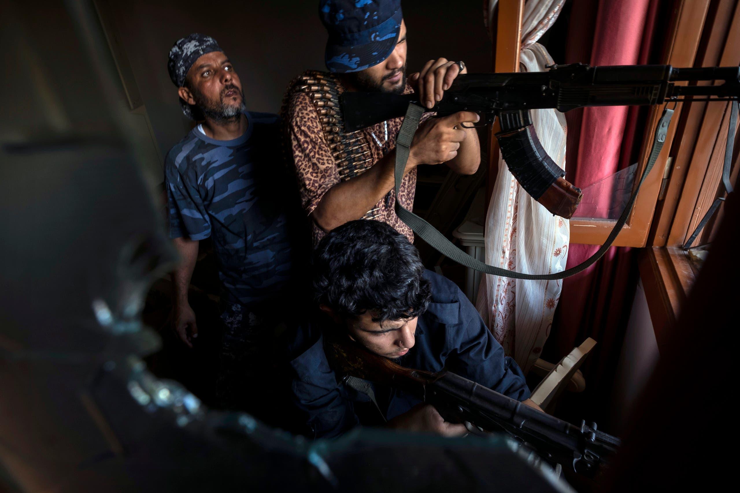 فصائل مسلحة وميليشيات ليبية في طرابلس (أرشيفية- أسوشييتد برس)