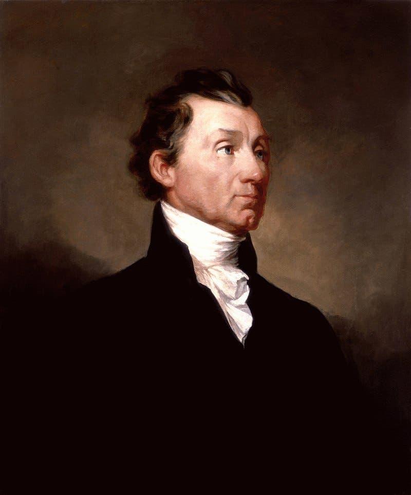 لوحة تجسد الرئيس الأميركي جيمس مونرو