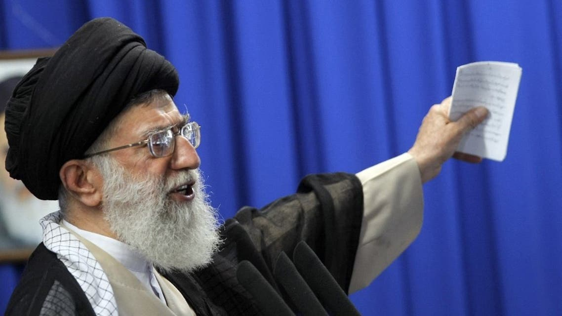 Iran's supreme leader Ayatollah Ali Khamenei gestures as he addresses the weekly Muslim Friday prayers at Tehran University on June 19, 2009. (File photo: AFP)