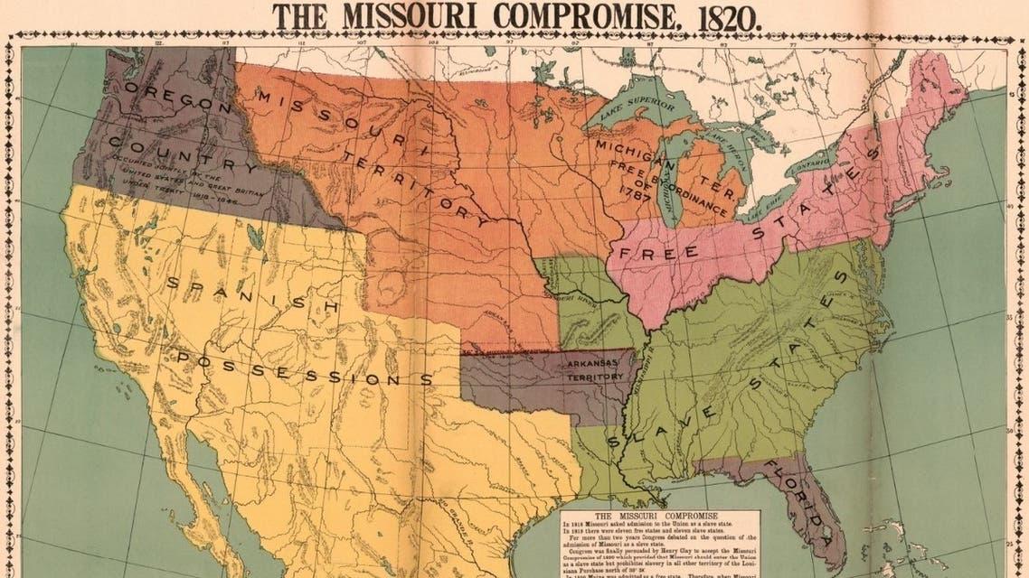 خريطة أميركا عقب تسوية ميزوري (1)