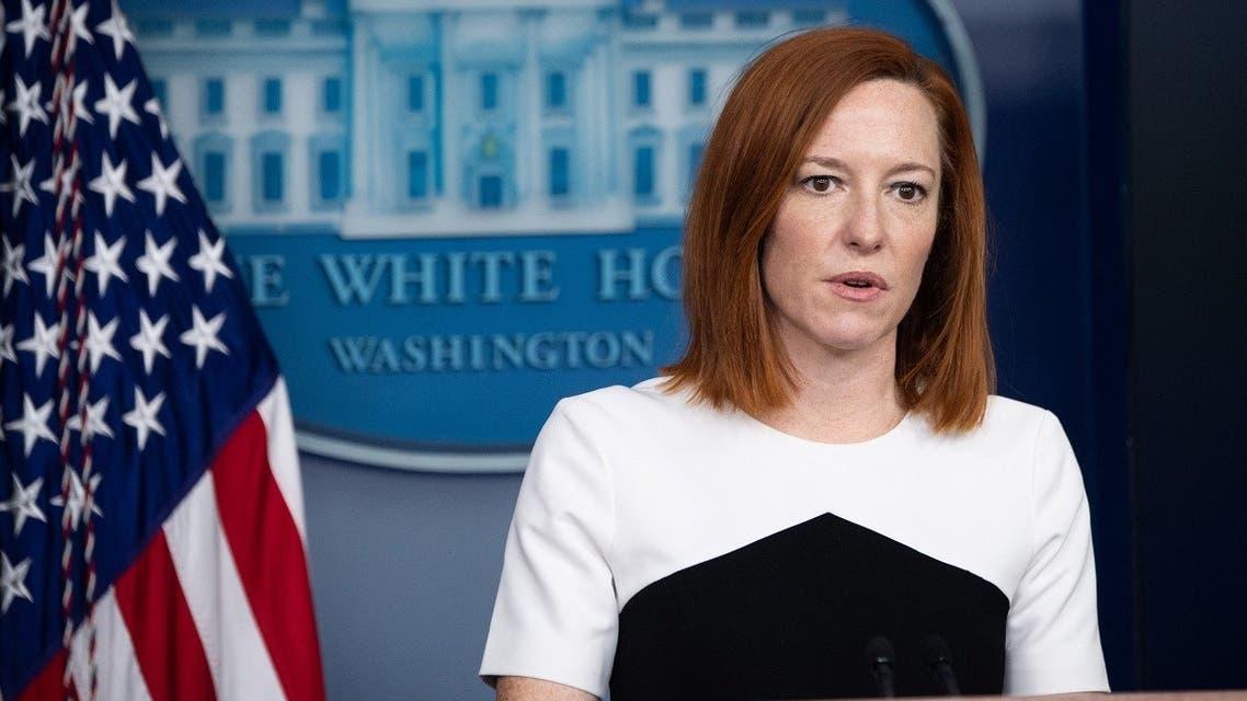 White House Press Secretary Jen Psaki speaks to reporters, Feb. 23, 2021. (AFP)
