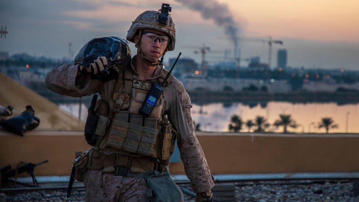 جندي أميركي في محيط السفارة الأميركية في بغداد (أرشيفية)