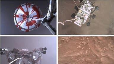 شاهد المركبة تصوّر نفسها وهي تهبط على سطح المريخ
