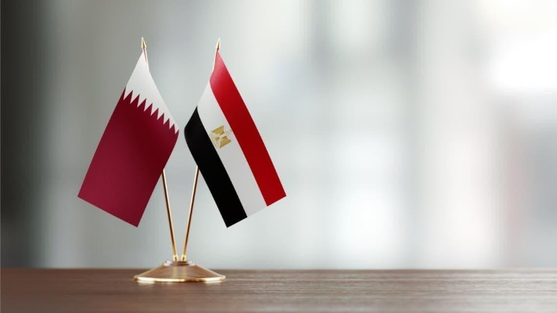Egyptian and Qatari Flags