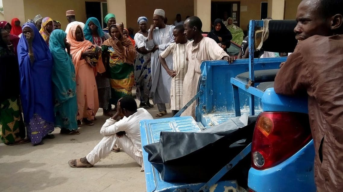 A man reacts as dead bodies are brought to a hospital after a suspected Boko Haram attack on the edge of Maiduguri's inner city, Nigeria. (File photo: Reuters)