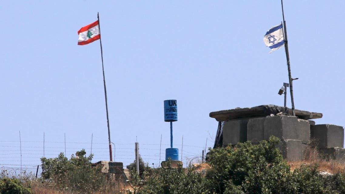 پرچم اسرائیل و لبنان