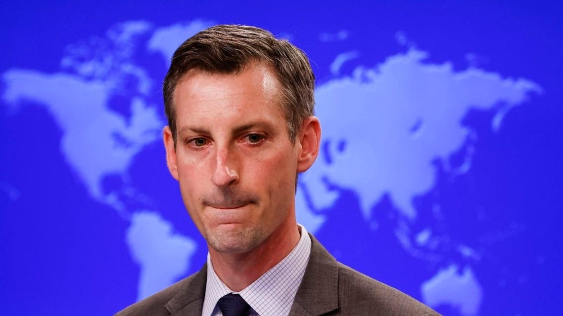 State Department Spokesman Ned Price speaks to reporters in Washington, Feb. 24, 2021. (AFP)