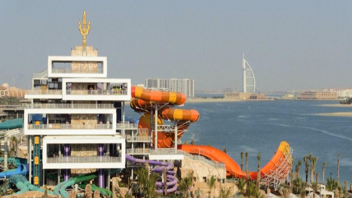 The Atlantis Aquaventure water park in the Palm Dubai. (AFP)
