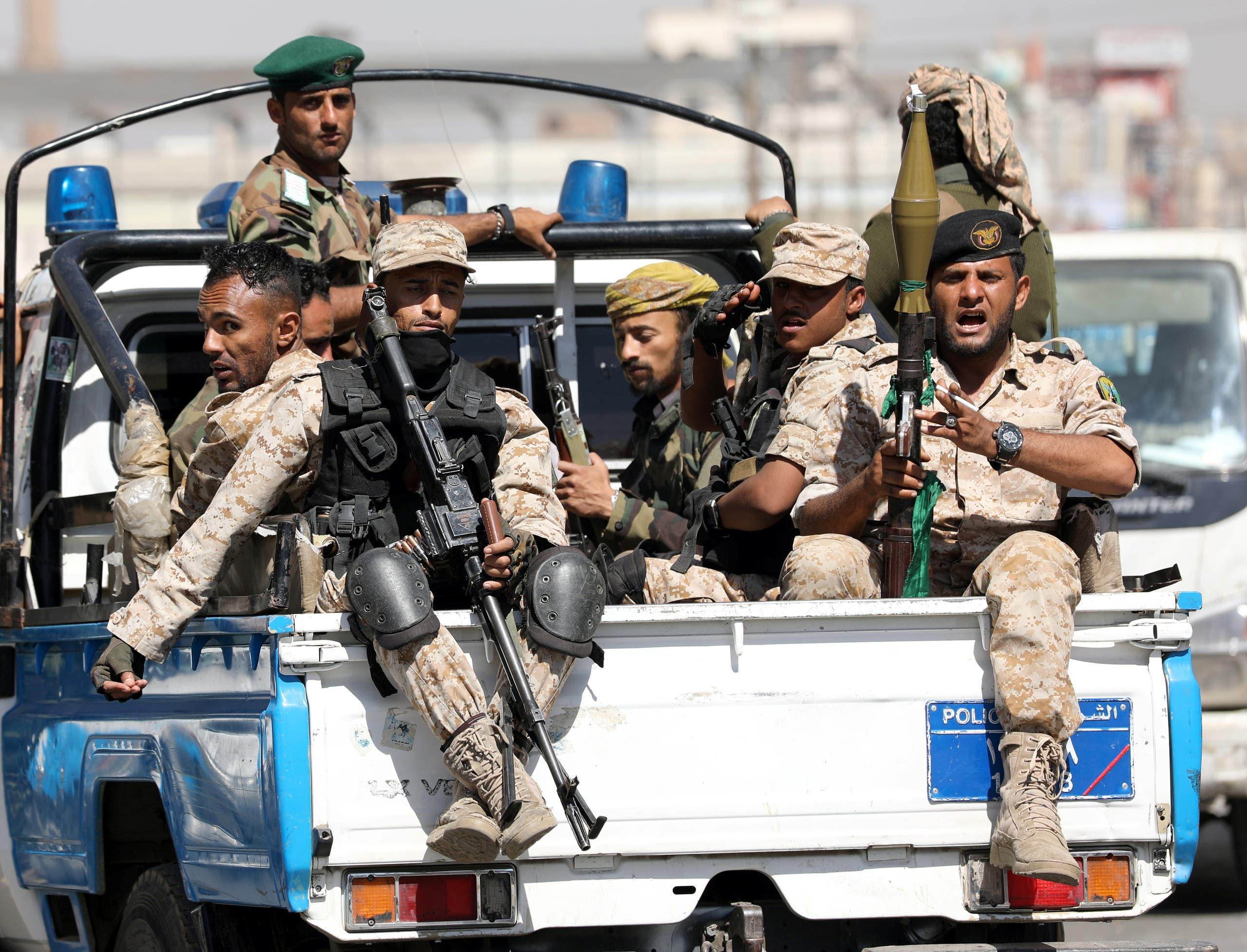 عناصر من الحوثيين في صنعاء (أرشيفية)
