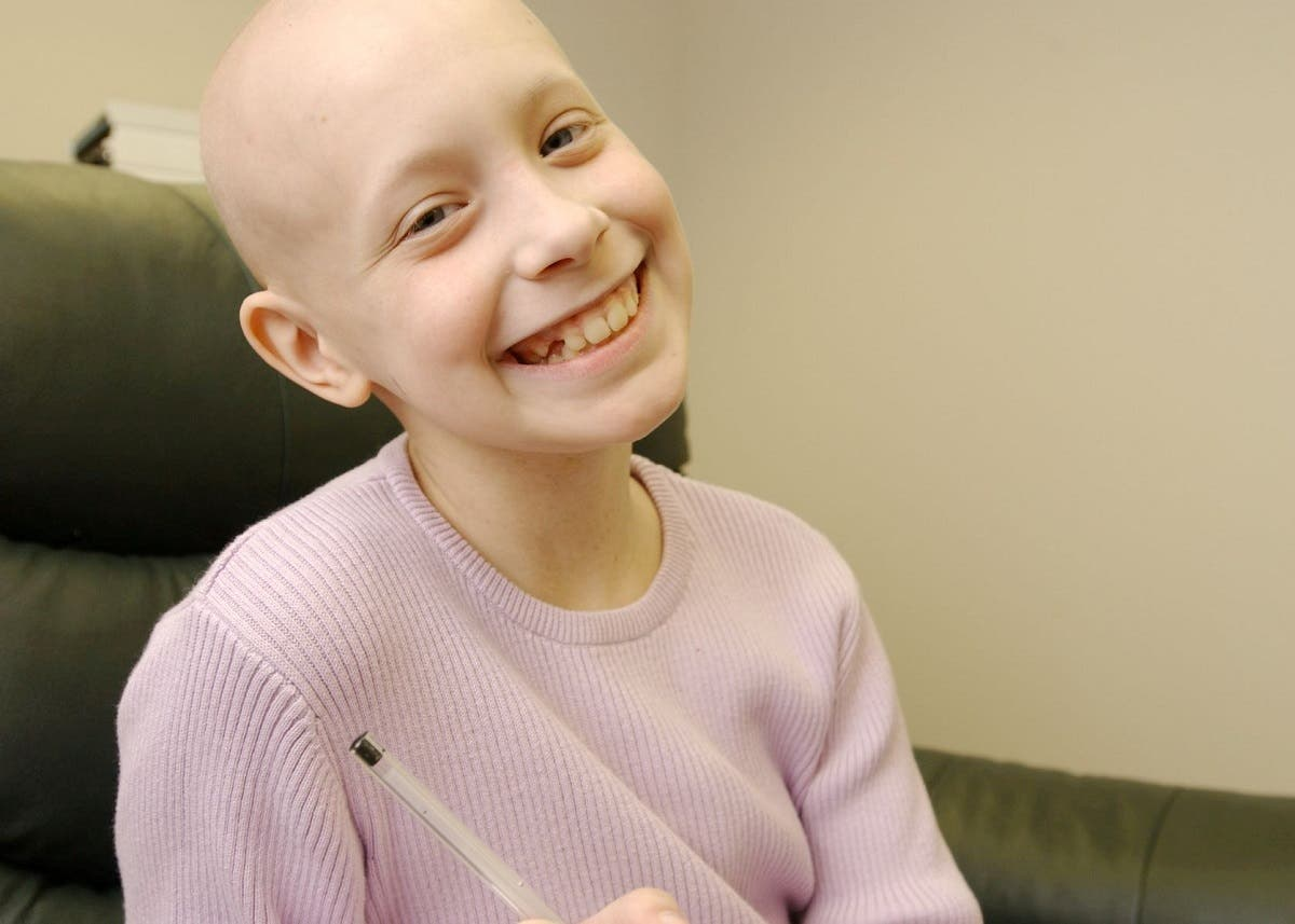 Hayley Arceneaux, a pediatric bone cancer survivor, smiles in an undated photograph during her treatment at St. Jude Children's Research Hospital in Memphis, Tennessee, US. (Reuters)