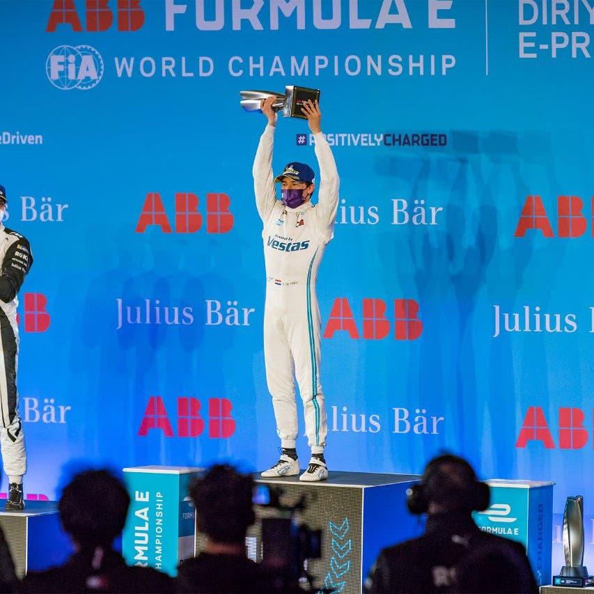De Vries wins Formula E's first night race in Saudi Arabia's Diriyah