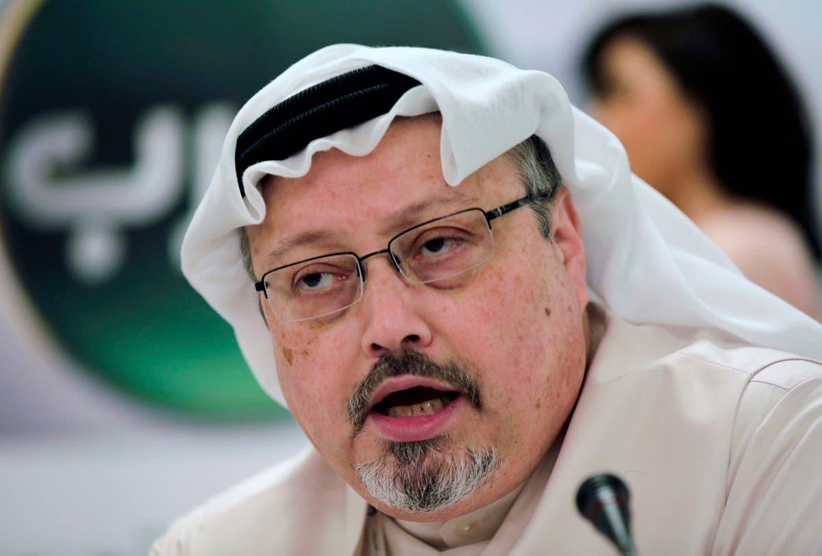 In this Dec. 15, 2014, file photo, Saudi journalist Jamal Khashoggi speaks during a news conference in Manama, Bahrain. (AP)