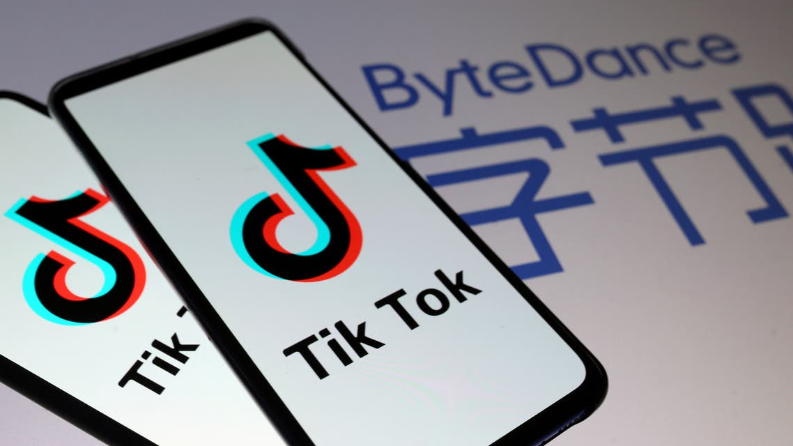 FILE PHOTO: Tik Tok logos are seen on smartphones in front of a displayed ByteDance logo in this illustration taken November 27, 2019. REUTERS/Dado Ruvic/Illustration/File Photo