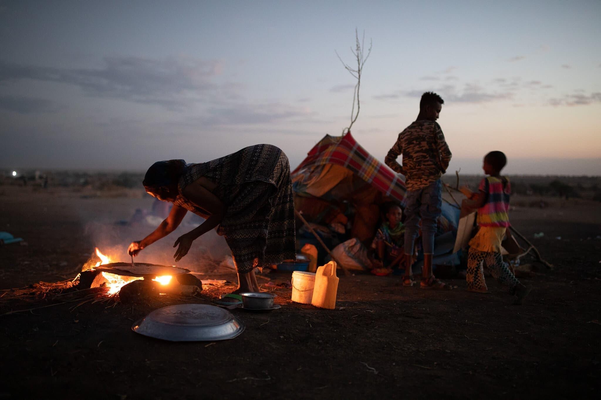من معسكر لاجئي تيغراي في السودان