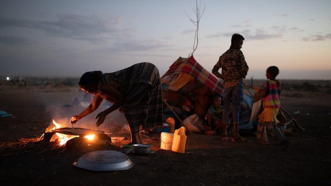 لاجئون من تيغراي في السودان
