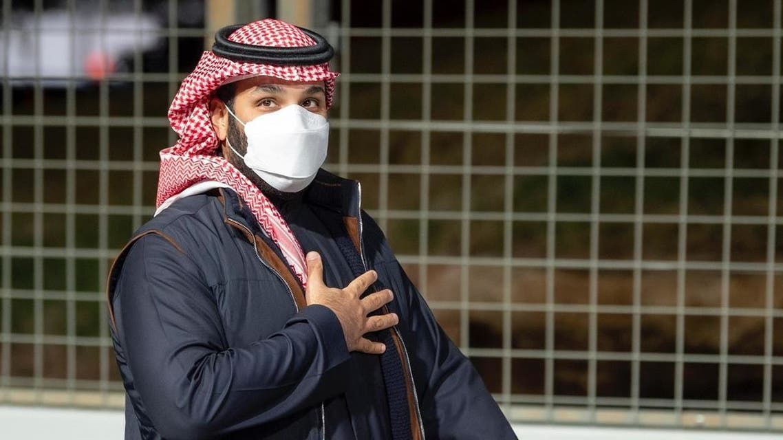 Saudi Crown Prince Mohammed bin Salman attends Formula E race in Diriyah