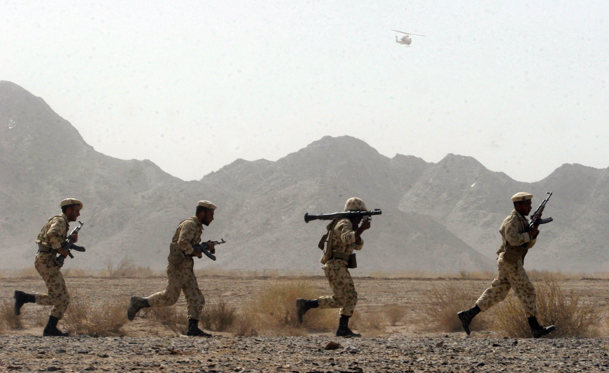 قوات أمن إيرانية في بلوشستان (أرشيفية)