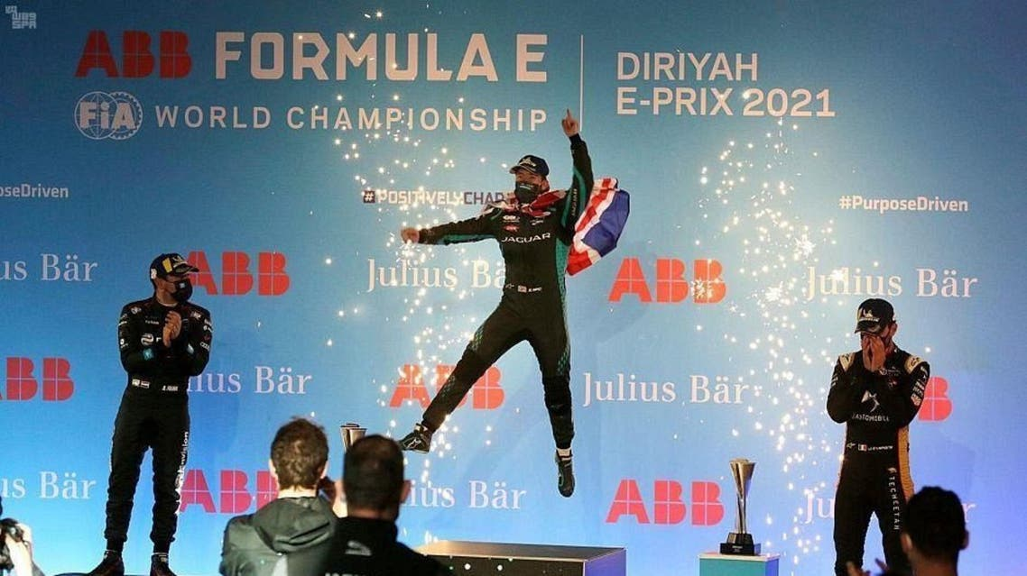 Jaguar's Sam Bird of wins second Formula E Diriyah race in Saudi Arabia