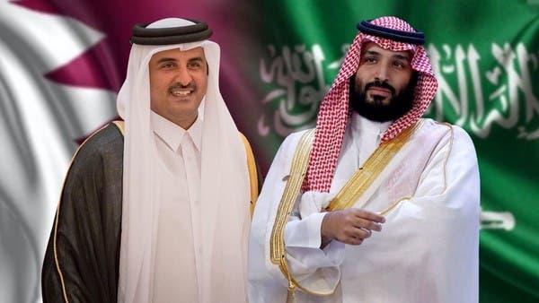 ولي العهد السعودي يتلقى اتصالاً هاتفياً من أمير قطر