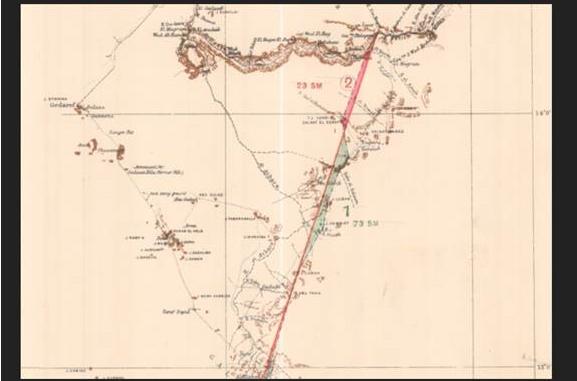 خريطة اتفاق 1902 تظهر تبعية الشفقة للسودان