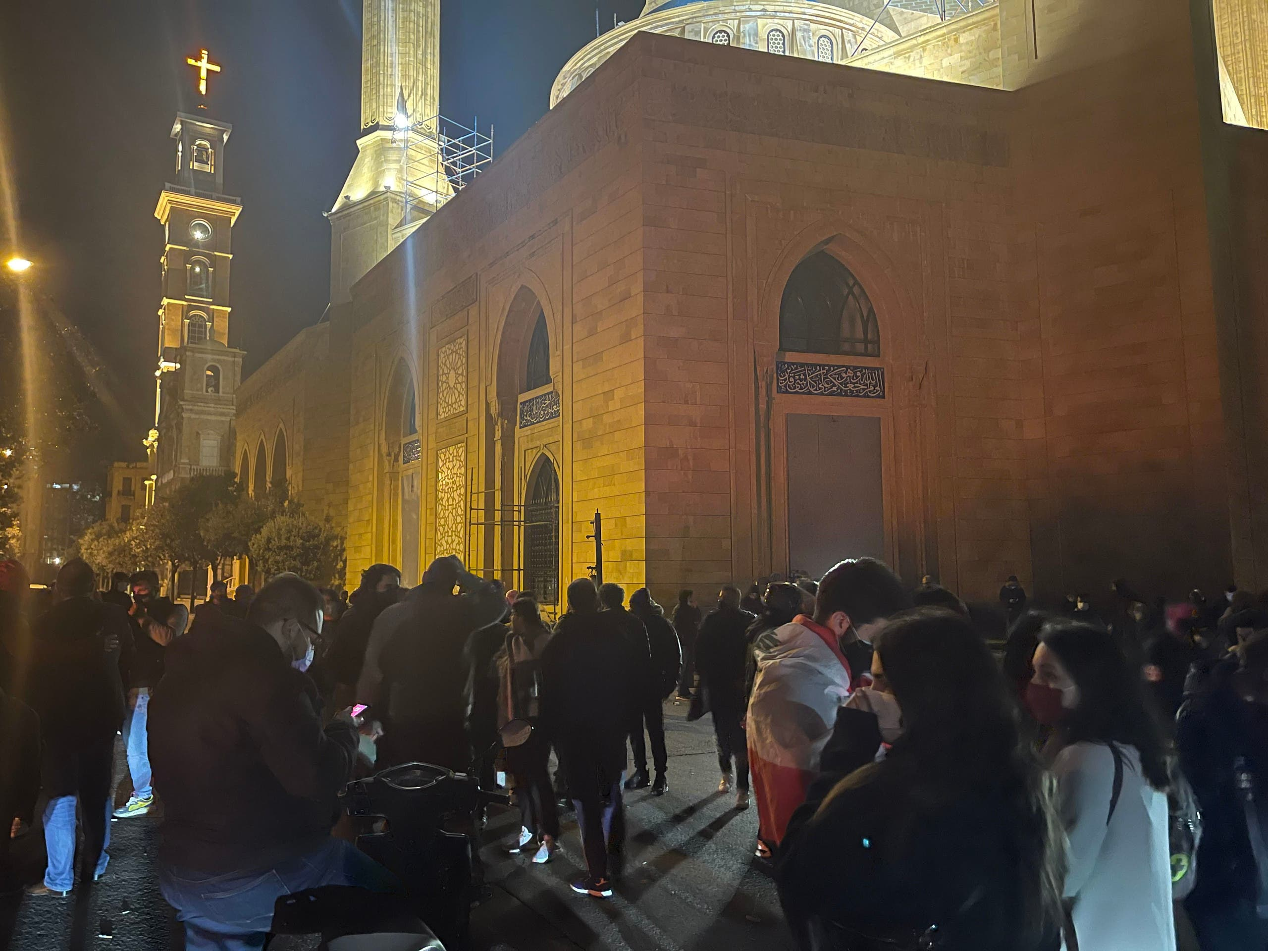 Lebanese protest in Martyrs' Square as currency hits all-time low. (Supplied)