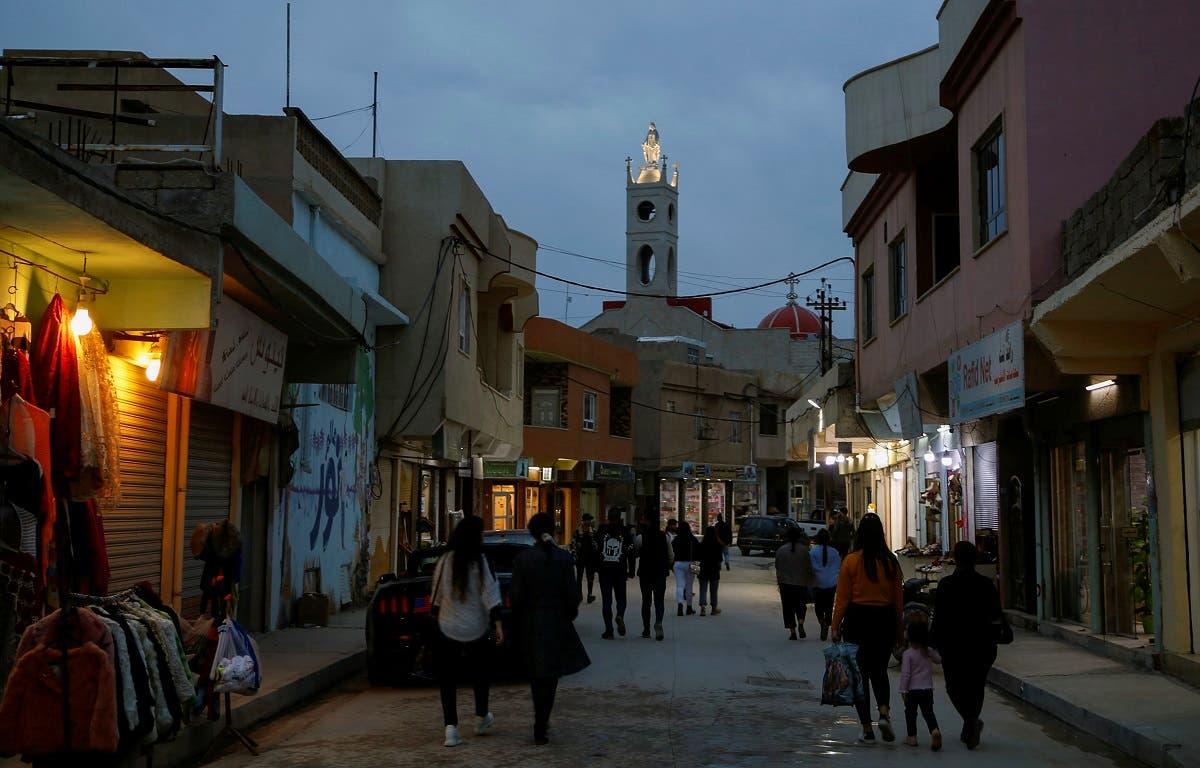 A view shows the Christian town of Qaraqosh, Iraq February 16, 2021. (Reuters/Thaier al-Sudani)