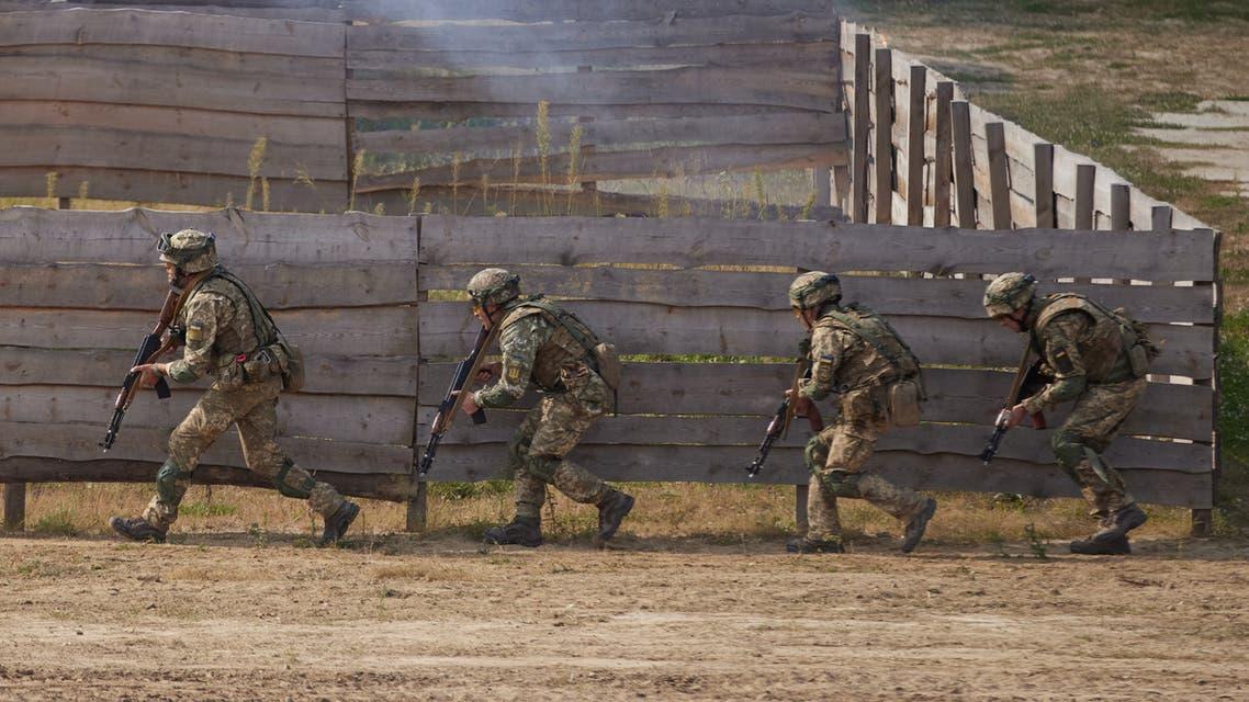 Servicemen take part in the Rapid Trident – 2020 international military exercises in Lviv Region, Ukraine September 17, 2020. (Reuters)