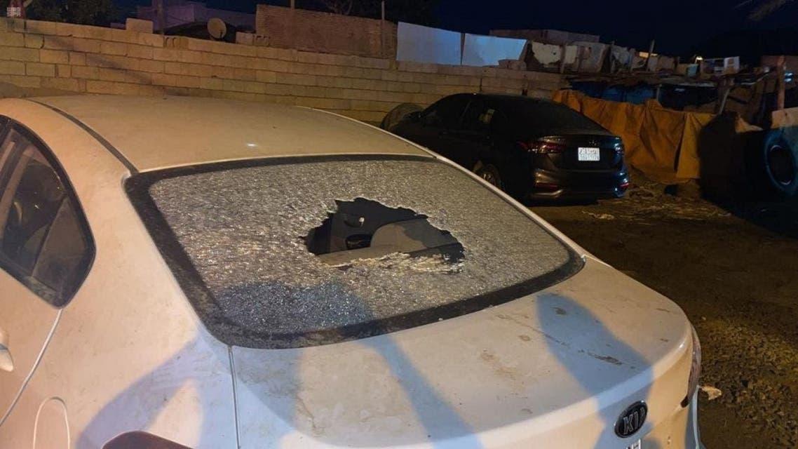مقذوف حوثي جازان السعودية