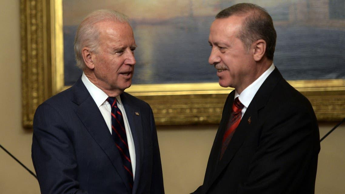 لقاء سابق بين أردوغان وبايدن في إسطنبول (أرشيفية من فرانس برس)
