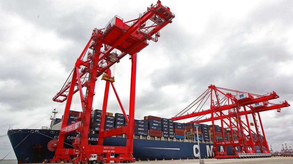 File photo of a container ship docked at the Colombo South Harbor.  (Reuters)