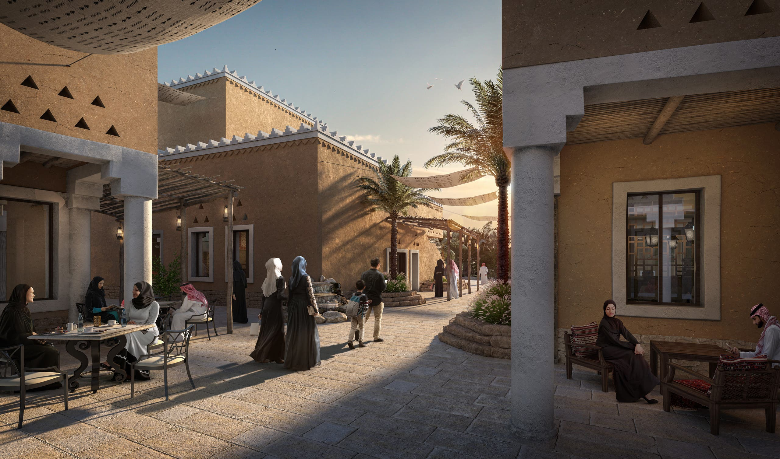 Al-Diriyah Gate's first district - Al Bujairi District – will open at the end of the year in December 2021 with 22 new restaurants. (Supplied)