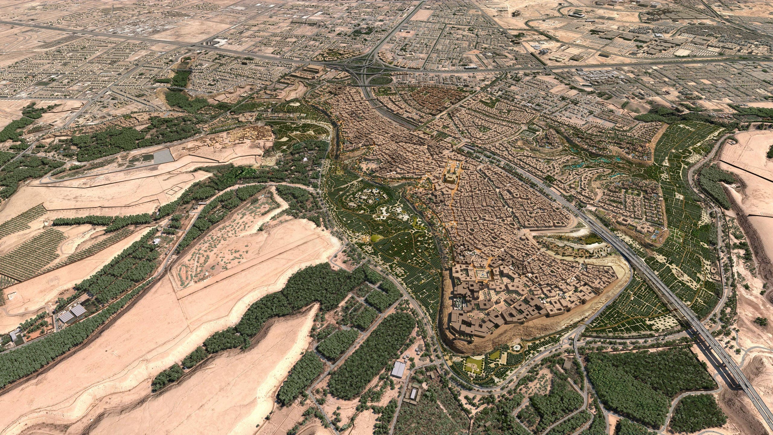 An ariel view of Al-Diriyah Gate. (Supplied)