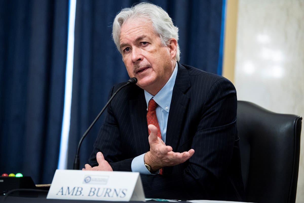 Bill Burns testifies during his Senate Intelligence Committee hearing, Feb. 24, 2021. (Reuters)