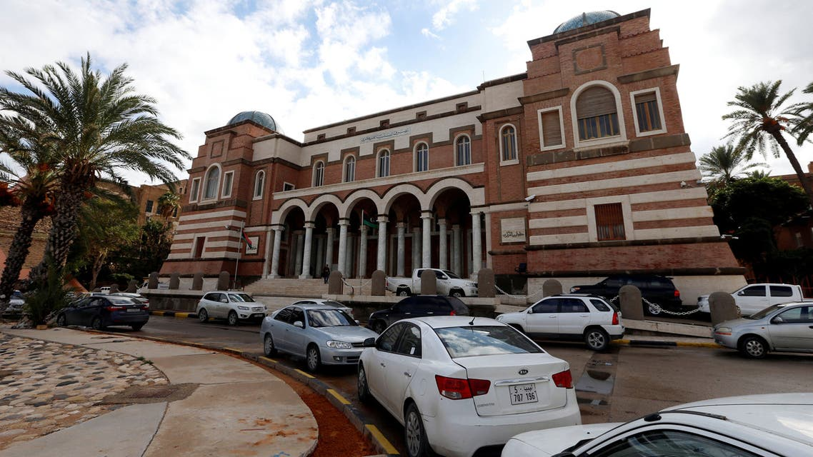 Cars are parked outside the Central Bank of Libya in Tripoli, Libya November 14, 2017. REUTERS/Ismail Zitouny