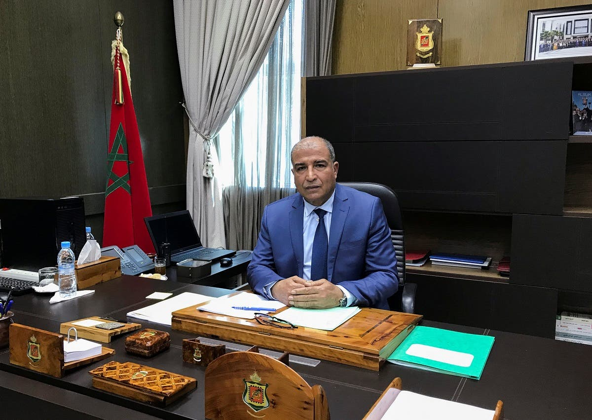 Haboub Cherkaoui, head of the Central Bureau of Judicial Investigations, attends an interview with Reuters in his office in Sale, Morocco, February 18, 2021. (Reuters/Ahmed ElJechtimi)