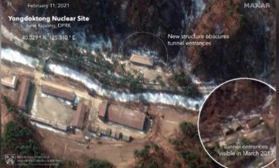 صورة الأقمار الصناعية للمجمع النووي الكوري