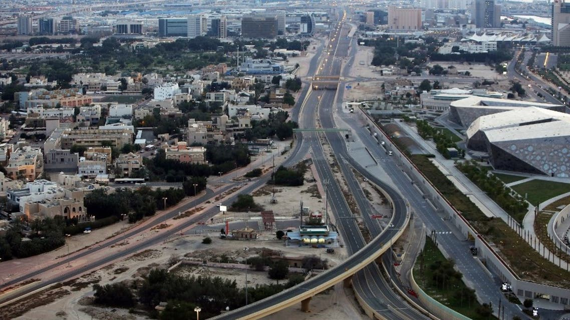 A photo taken on March 23, 2020, shows an empty highway in Kuwait city a day after authorities declared a nationwide curfew amid the COVID-19 coronavirus pandemic. (AFP)
