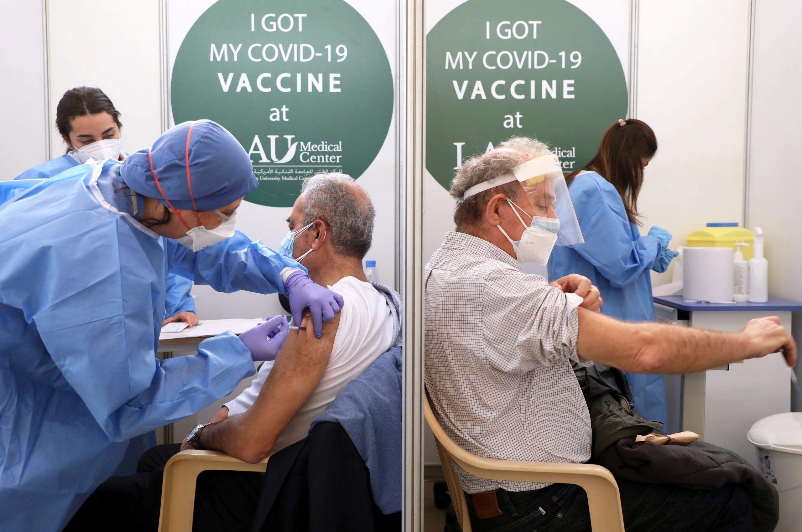 من حملة التطعيم في لبنان