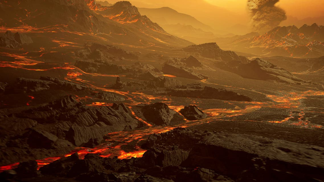 The surface of the newly discovered exoplanet called Gliese 486 b, a type of planet known as a hot super-Earth is seen in an undated artist's impression. (Reuters)