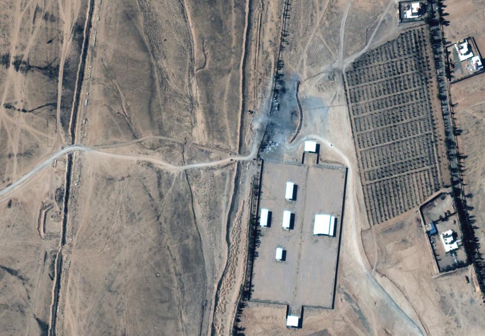 موقع للميليشيات الإيرانية على الحدود السورية العراقية  (أرشيفية- فرانس برس)